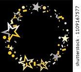round frame or border christmas ... | Shutterstock .eps vector #1109167577