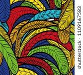 seamless hand drawn pattern... | Shutterstock .eps vector #1109167583