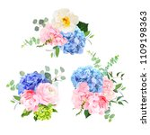 blue  pink  green and purple... | Shutterstock .eps vector #1109198363