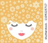 blondy girl. vector... | Shutterstock .eps vector #1109225717