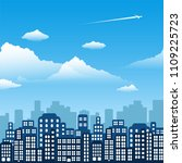 day landscape city. background... | Shutterstock .eps vector #1109225723
