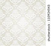 silver vintage seamless... | Shutterstock .eps vector #110924543