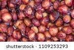 bones from the cherry. cherry... | Shutterstock . vector #1109253293
