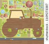 vector illustration. rural... | Shutterstock .eps vector #1109273387