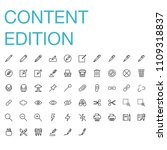modern flat edition icon set | Shutterstock .eps vector #1109318837