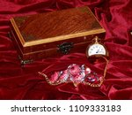 a handmade mahogany casket with ...   Shutterstock . vector #1109333183