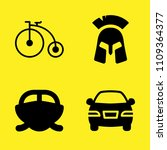 bicycle  car  speedboat and... | Shutterstock .eps vector #1109364377