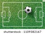 soccer football ball on green...   Shutterstock .eps vector #1109382167