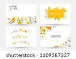 honeycombs and bee. design... | Shutterstock .eps vector #1109387327
