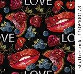 sweet kiss fashion art. sexy...   Shutterstock .eps vector #1109400173