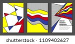 covers templates set with... | Shutterstock .eps vector #1109402627