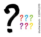 vector hand painted question... | Shutterstock .eps vector #110941193