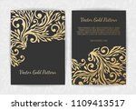 set of black and gold design... | Shutterstock .eps vector #1109413517