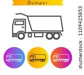 dumper truck icon. editable... | Shutterstock .eps vector #1109425853