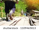 rear view of miners... | Shutterstock . vector #1109465813