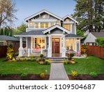 beautiful luxury home exterior... | Shutterstock . vector #1109504687