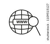 www vector line flat icon url....   Shutterstock .eps vector #1109515127