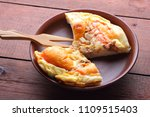 homemade pizza on a clay plate  ... | Shutterstock . vector #1109515403