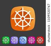 dharma wheel dharmachakra... | Shutterstock .eps vector #1109520767