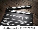 film slate or movie clapper...   Shutterstock . vector #1109521283
