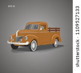 old farmer pickup truck vector... | Shutterstock .eps vector #1109527133