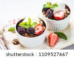 crumble pie with berry mix ... | Shutterstock . vector #1109527667