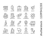 thin line medicine icons set | Shutterstock .eps vector #1109541233