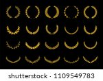 collection of different golden... | Shutterstock .eps vector #1109549783