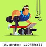 strong big sport man doing... | Shutterstock .eps vector #1109556653