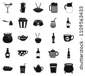 tableware icons set. simple set ... | Shutterstock . vector #1109563433