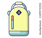 backpack schoolgirl icon.... | Shutterstock . vector #1109572253