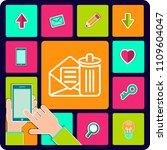 email delete vector line icon.... | Shutterstock .eps vector #1109604047