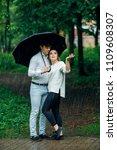 attractive couple under an...   Shutterstock . vector #1109608307