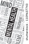 mental health words background | Shutterstock .eps vector #1109637743