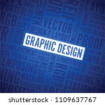 graphic design words blue... | Shutterstock .eps vector #1109637767
