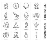 set of 16 icons such as spear ...