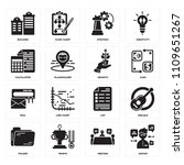 set of 16 icons such as avatar  ...
