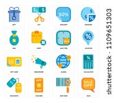 set of 16 icons such as sale ...