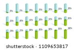 set of green percentage charts... | Shutterstock .eps vector #1109653817