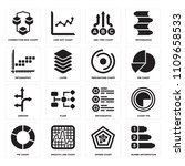 set of 16 icons such as numbe...
