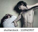 woman victim of domestic... | Shutterstock . vector #110965907