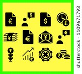 business icons set of website ...