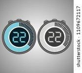 electronic digital stopwatch.... | Shutterstock .eps vector #1109672117