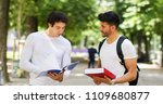 two students discussing in a... | Shutterstock . vector #1109680877