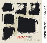 vector set of  brush strokes | Shutterstock .eps vector #110968727