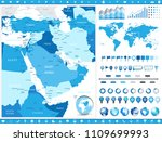 middle east map and infographic ... | Shutterstock .eps vector #1109699993