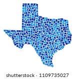 texas map mosaic of randomized... | Shutterstock .eps vector #1109735027