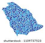saudi arabia map collage of... | Shutterstock .eps vector #1109737523