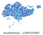 singapore map mosaic of... | Shutterstock .eps vector #1109737967