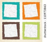 torn scratch paper vintage... | Shutterstock .eps vector #110973863